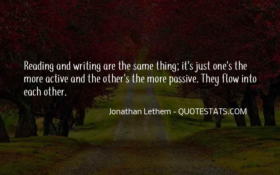 Quotes About Reading And Writing #120757