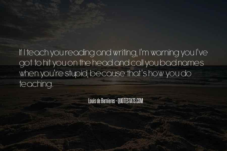 Quotes About Reading And Writing #184781