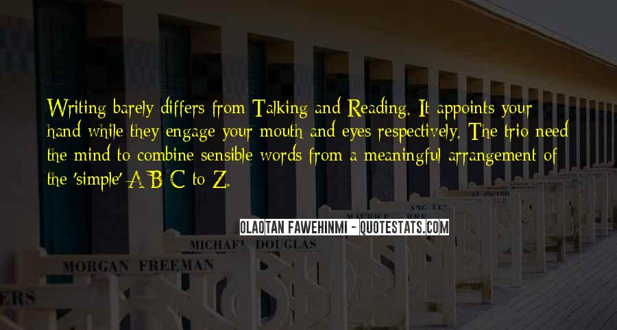 Quotes About Reading And Writing #204580