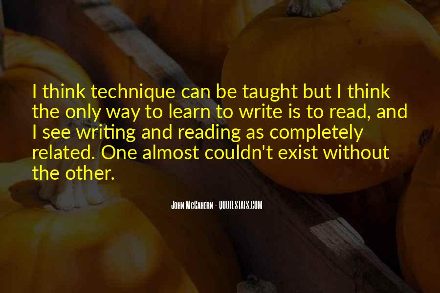 Quotes About Reading And Writing #264784