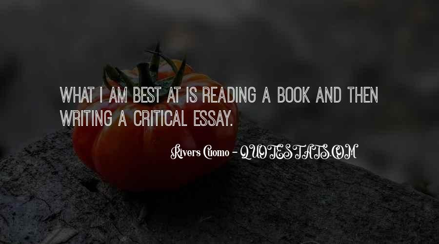 Quotes About Reading And Writing #272345