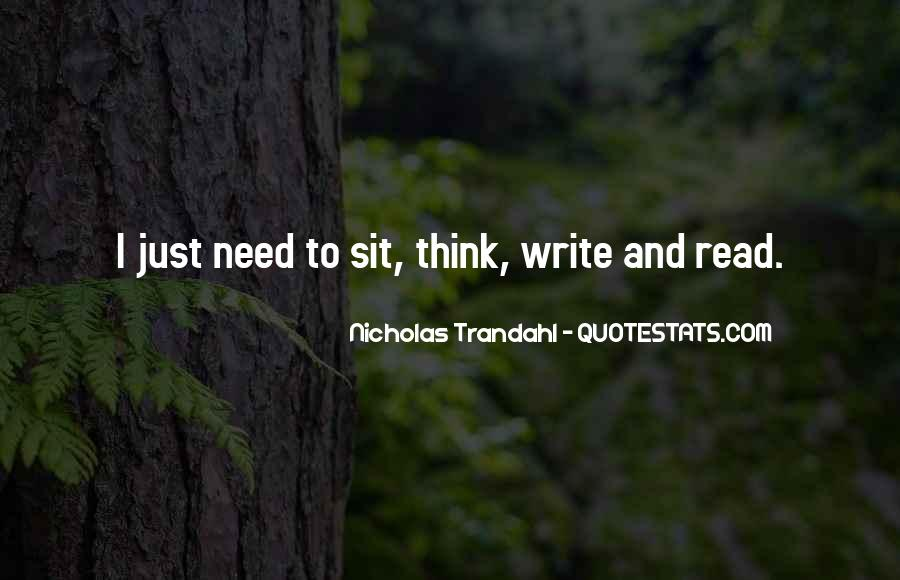 Quotes About Reading And Writing #96607