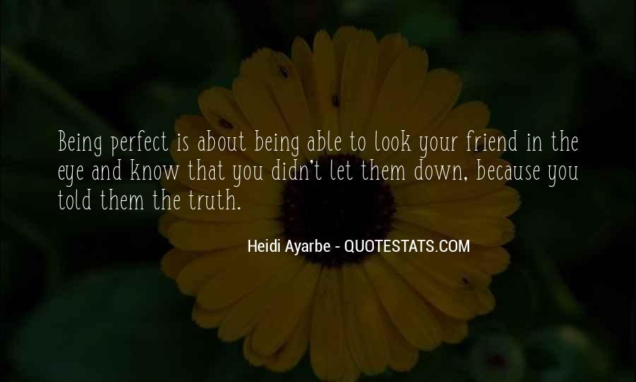 Quotes About About Not Being Perfect #459195