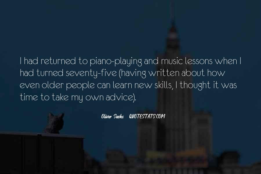 Quotes About Playing Piano #539747
