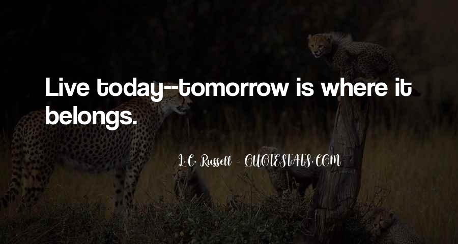 Quotes About Tomorrow #24008