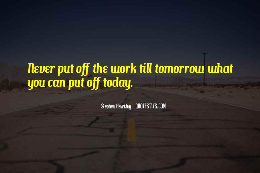 Quotes About Tomorrow #36769