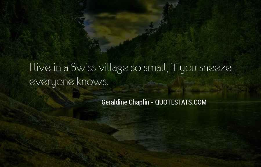Quotes About A Village #117688