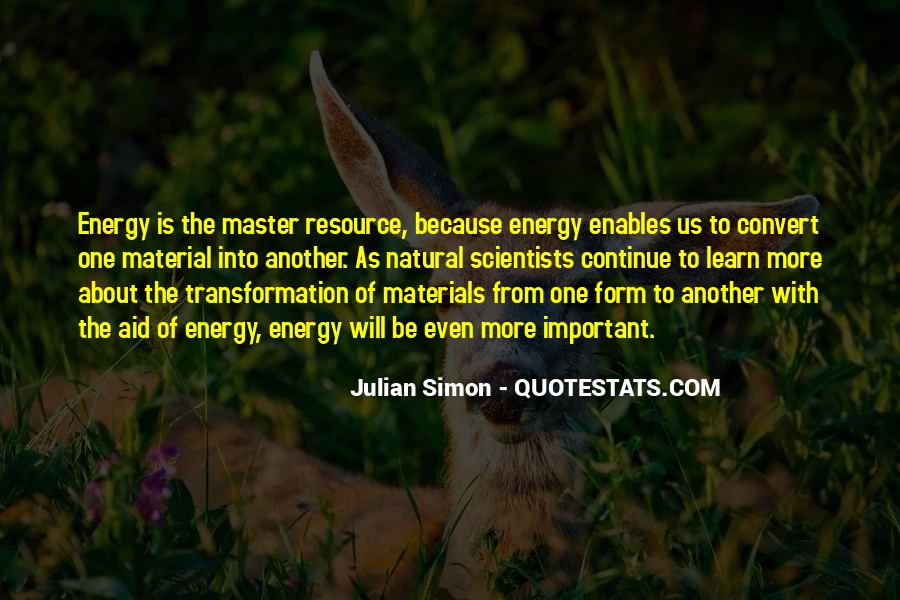 Quotes About Natural Materials #902598