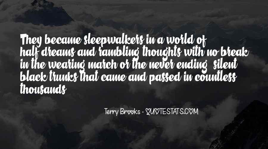 Quotes About Rambling Thoughts #1538491