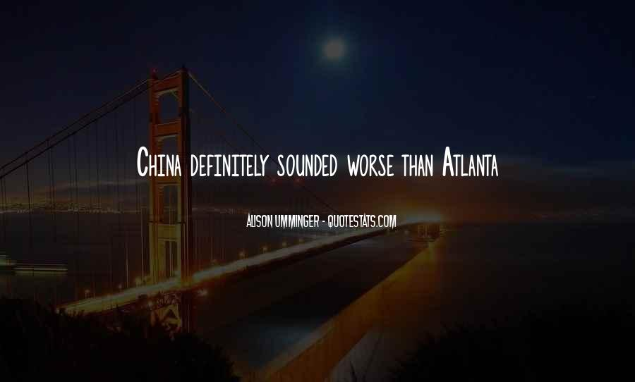 Quotes About Atlanta #101099