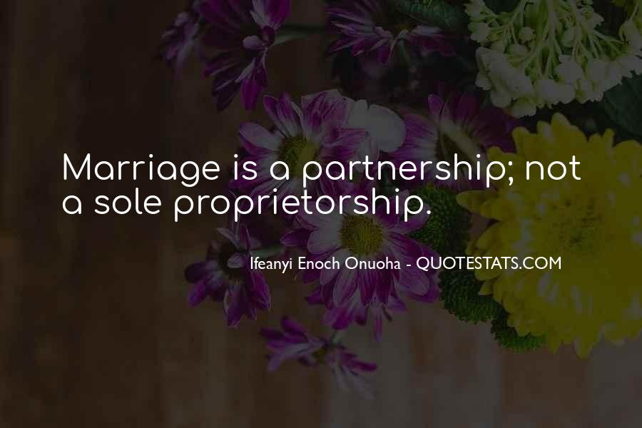 Quotes About Partnership And Love #1540936