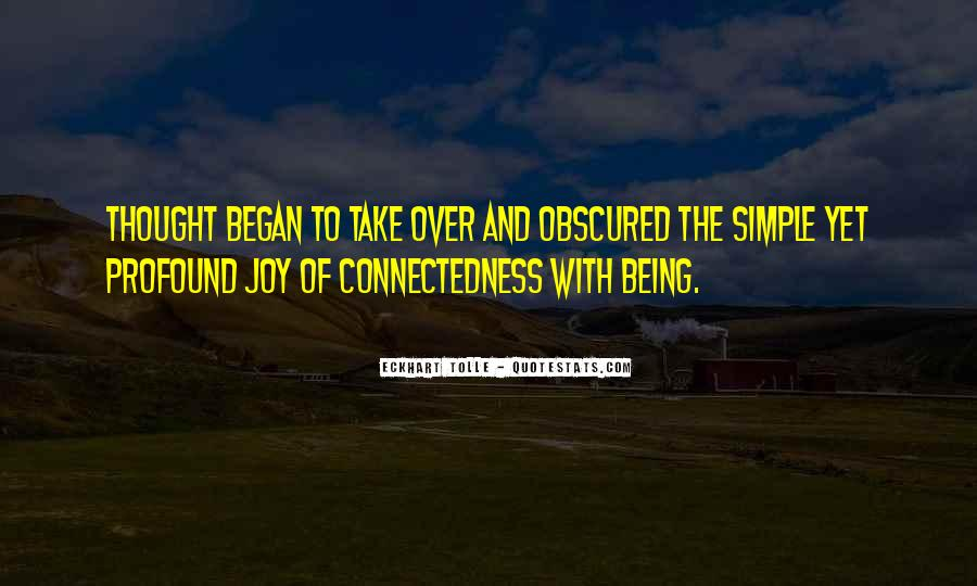 Quotes About Connectedness #1016224