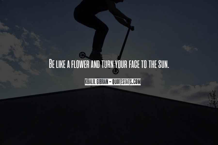 Quotes About The Sun On Your Face #87547