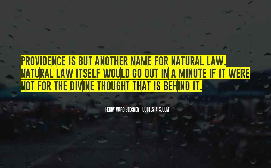 Quotes About Divine Providence #1199209