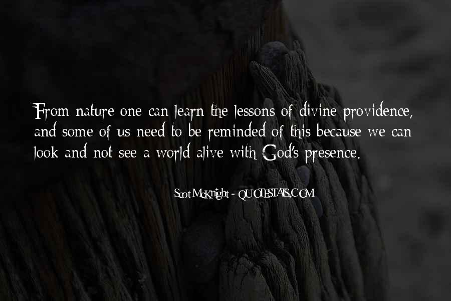 Quotes About Divine Providence #1257888