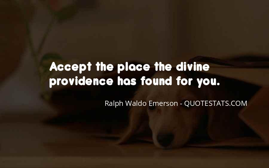 Quotes About Divine Providence #1417482