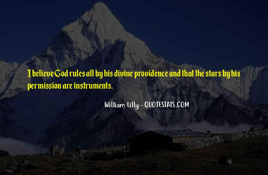 Quotes About Divine Providence #171369