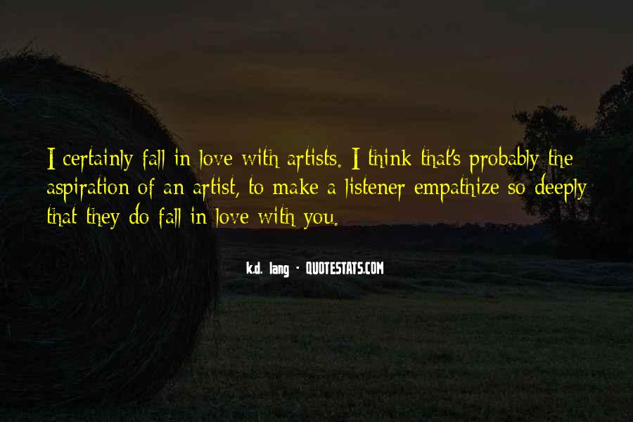 Quotes About Love By Artists #35675