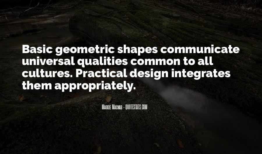 Quotes About Geometric Shapes #344682