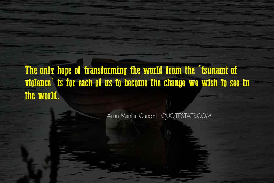 Quotes About World Change #21901