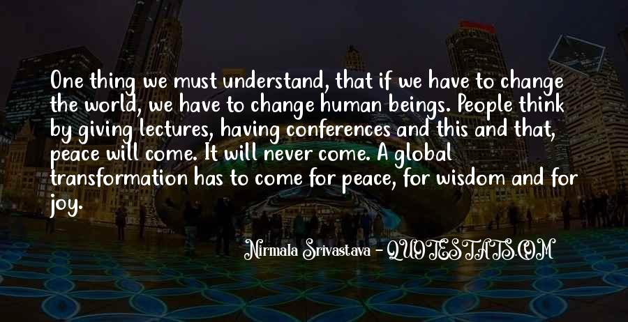 Quotes About World Change #39006