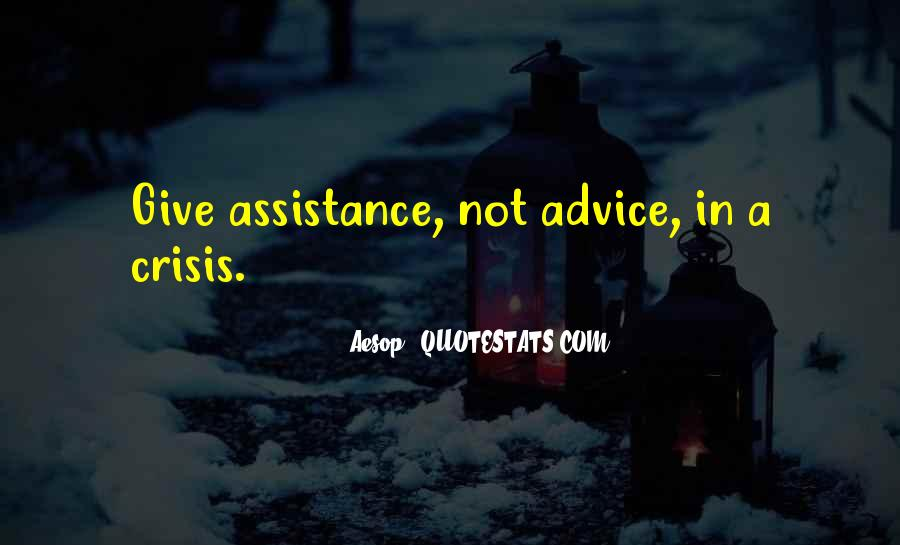 Quotes About Assistance #156969