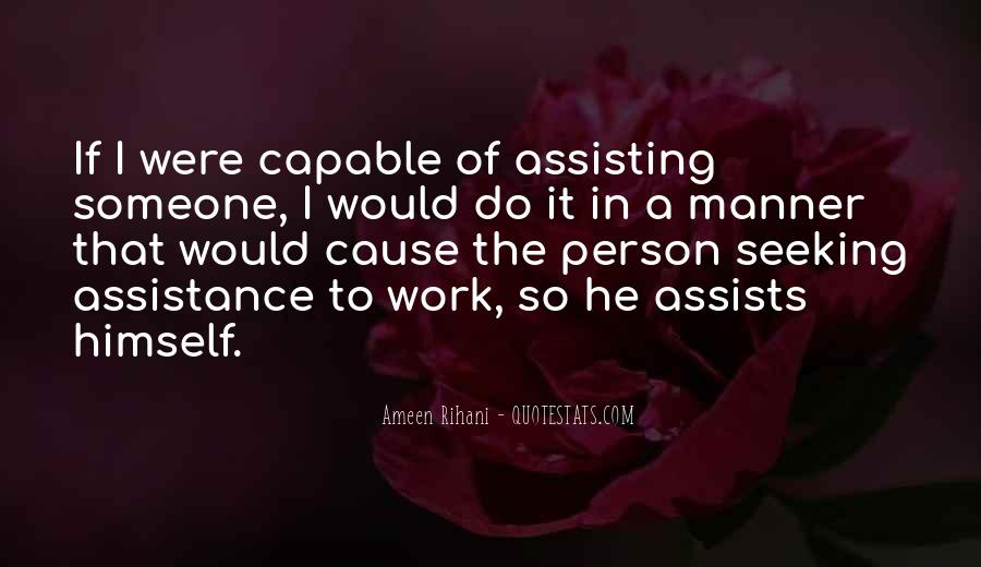 Quotes About Assistance #218788