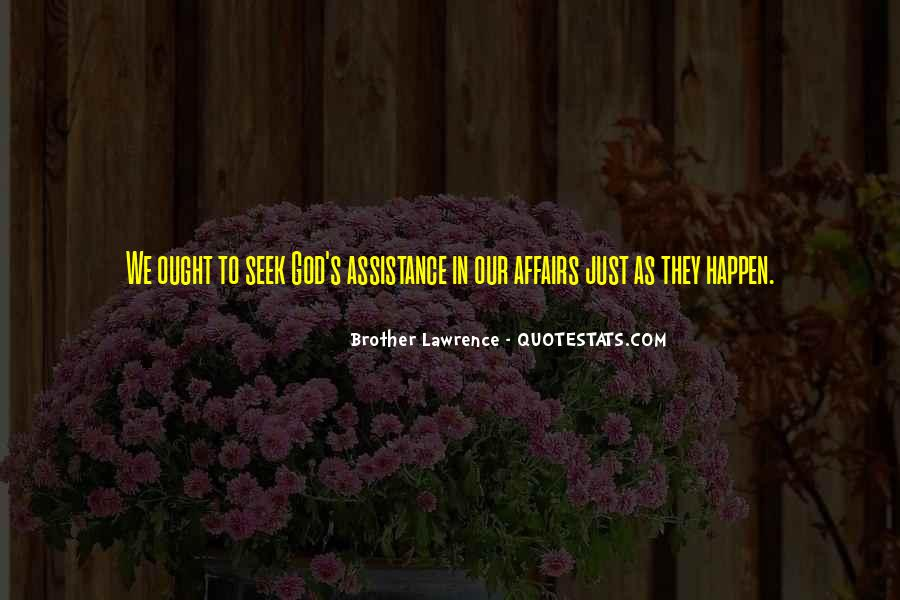 Quotes About Assistance #225507