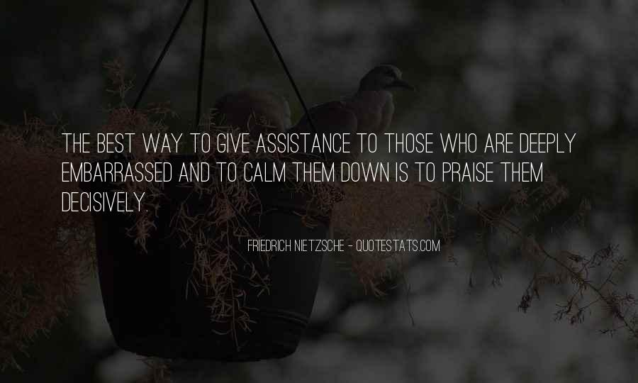 Quotes About Assistance #226112