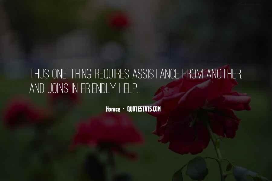 Quotes About Assistance #34886