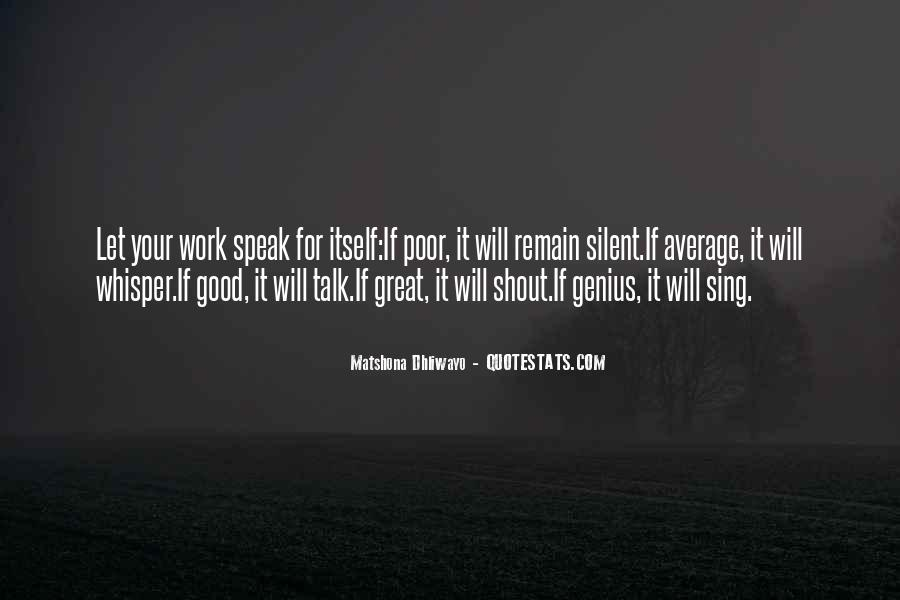 Quotes About Silent Success #1207695