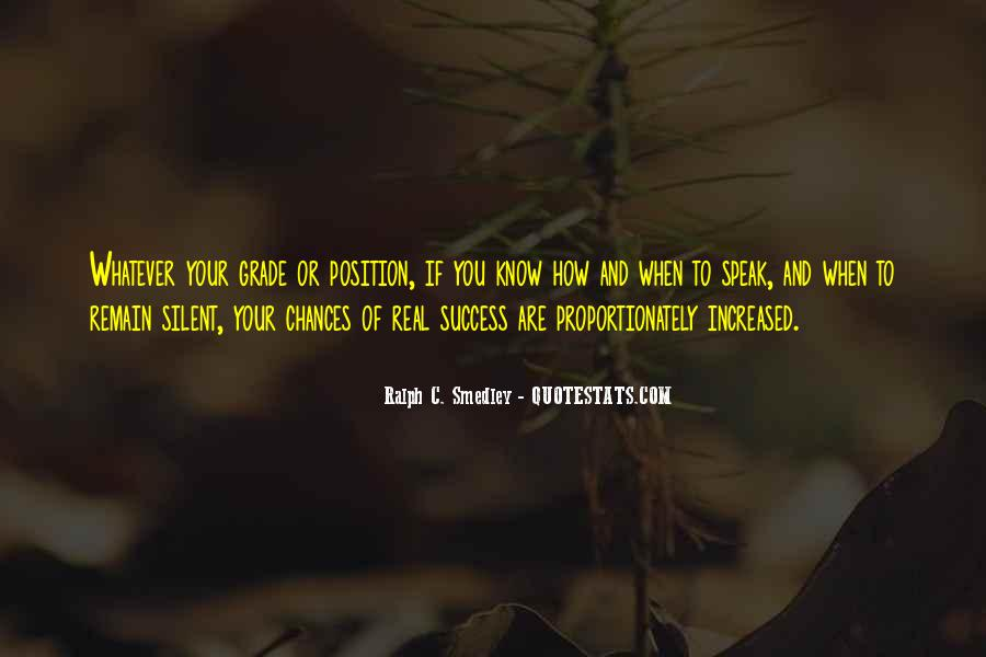 Quotes About Silent Success #598310