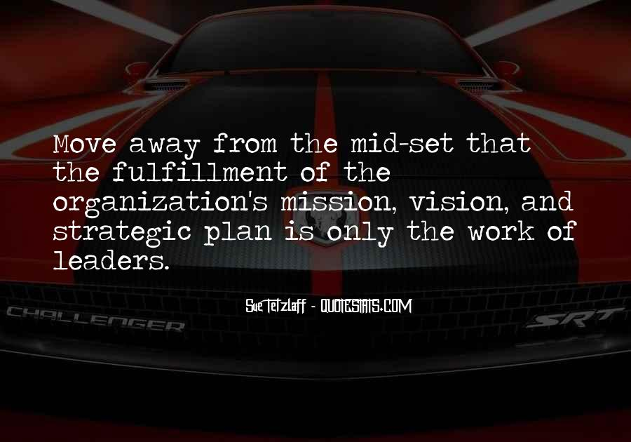 Quotes About Strategic Vision #793367