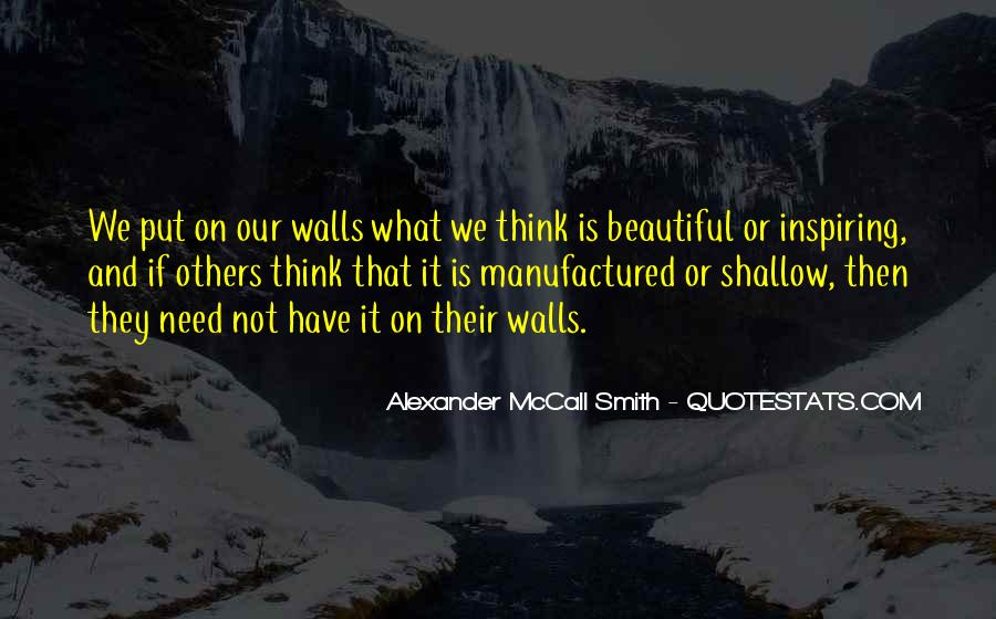 Quotes About Walls Put Up #1053290
