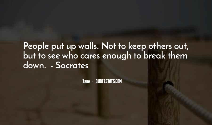 Quotes About Walls Put Up #255249