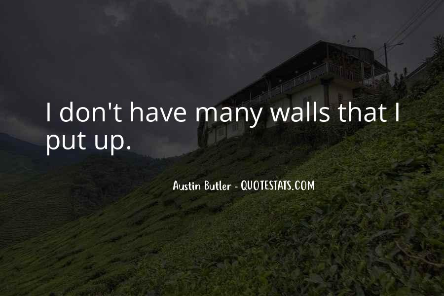 Quotes About Walls Put Up #923177