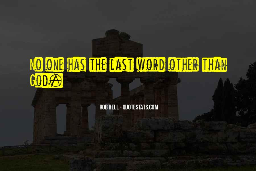 Quotes About No One Word #425318