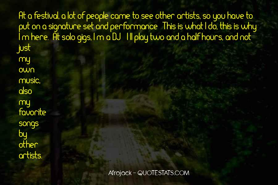 Quotes About Gigs #276390