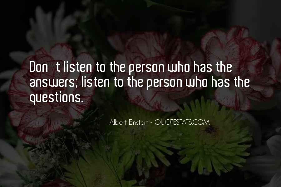 Quotes About Questions Einstein #496590