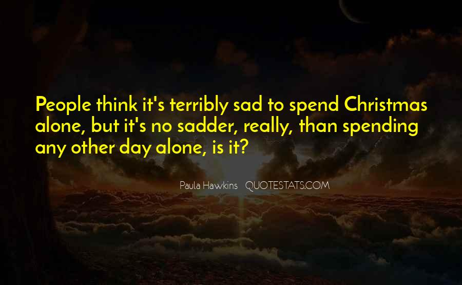 Quotes About Alone In Christmas #15420