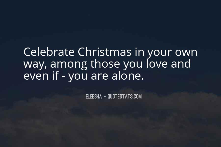 Quotes About Alone In Christmas #1781953