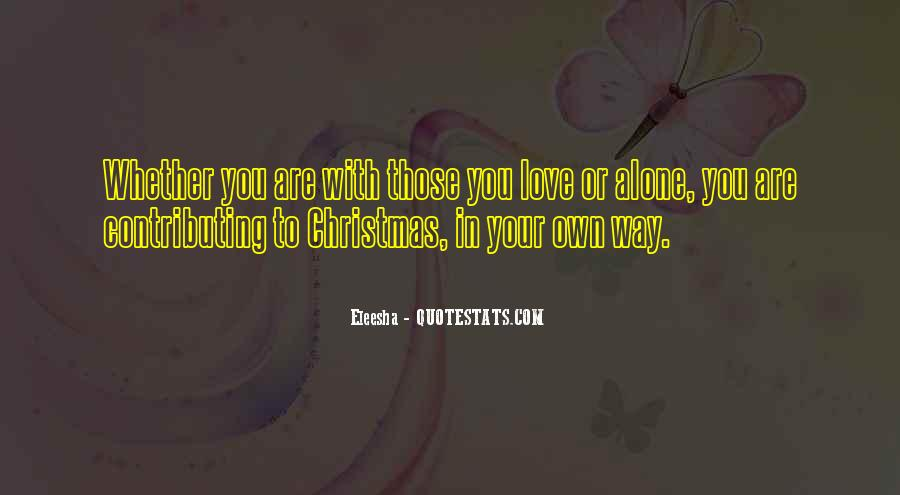 Quotes About Alone In Christmas #883846