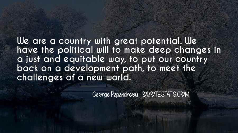 Quotes About Development Of A Country #102519