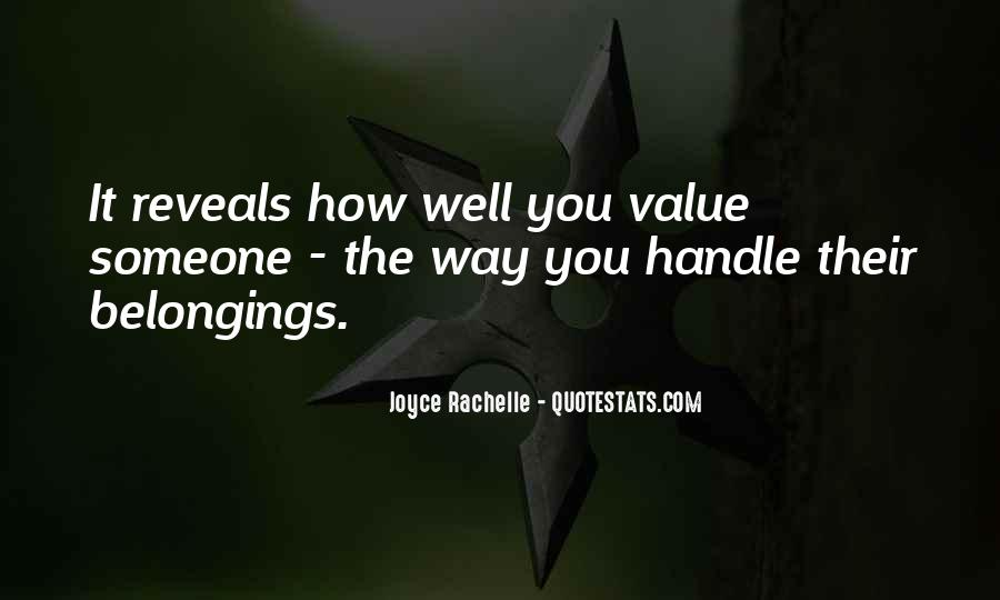 Quotes About Valuing Someone #1867945