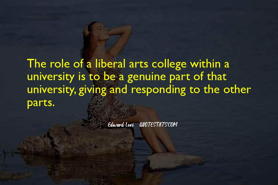 Quotes About Liberal Arts #1172624