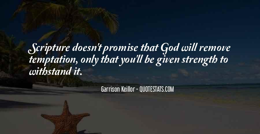 Quotes About Temptation And God #3539