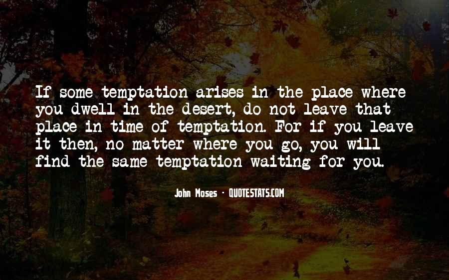 Quotes About Temptation And God #76385
