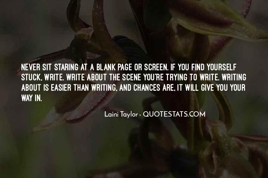 Quotes About Blank Page #1140751