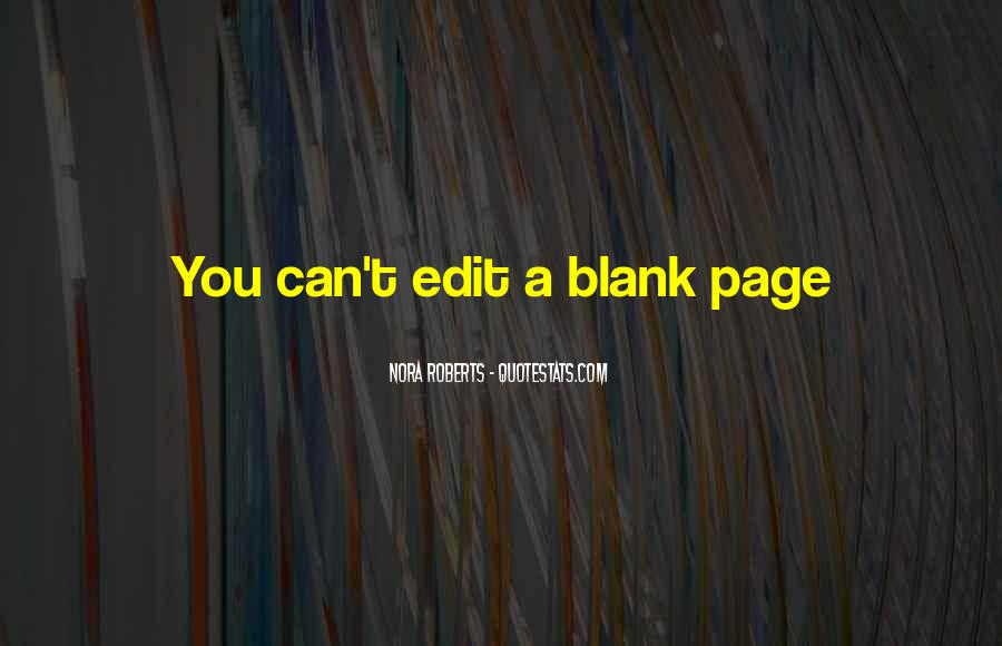 Quotes About Blank Page #126730