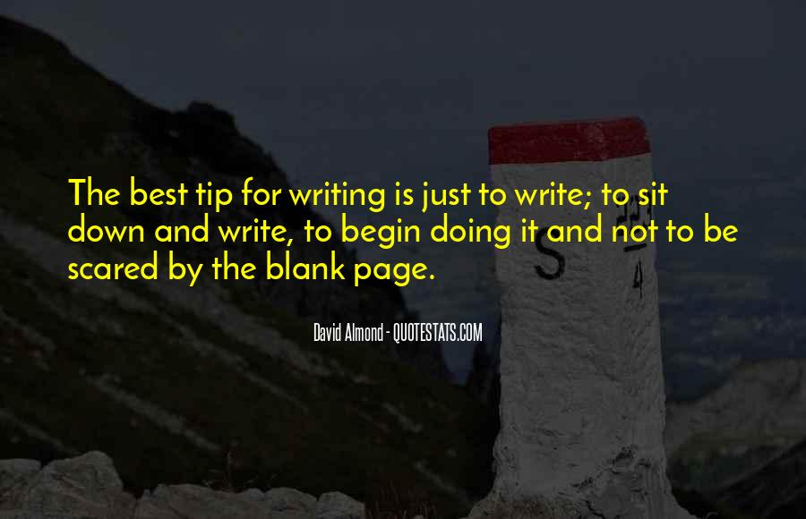 Quotes About Blank Page #135622